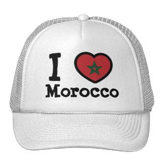 Morocco Flag Trucker Hats