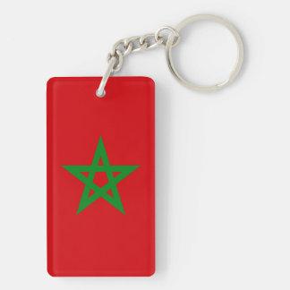 Morocco Flag Acrylic Key Chain