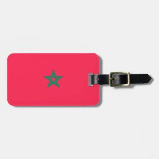 Morocco Flag Bag Tags