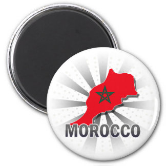 Morocco Flag Map 2.0 Magnet