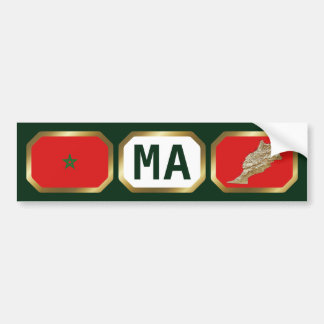 Morocco Flag Map Code Bumper Sticker