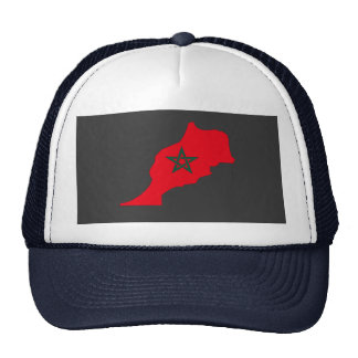 Morocco flag map hat