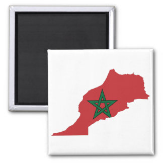 Morocco Flag Map Magnet