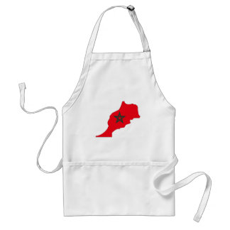Morocco flag map standard apron