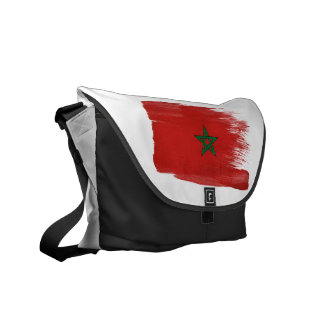 Morocco Flag Courier Bags