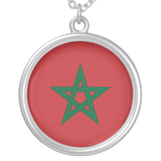 Morocco Flag Necklace
