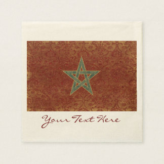 Morocco Flag Party Napkins Paper Napkins