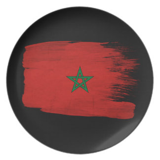 Morocco Flag Plate