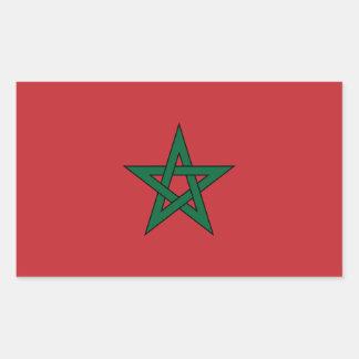 Morocco Flag Rectangular Sticker