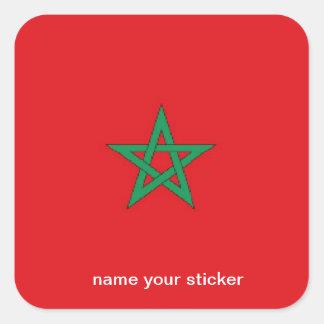 Morocco flag sticker