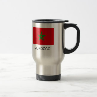Morocco Flag Travel Mug