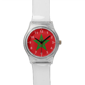 Morocco Flag Wrist Watches
