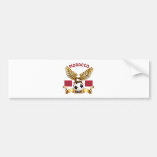 Morocco Football Designs Bumper Sticker