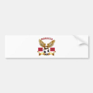 Morocco Football Designs Car Bumper Sticker