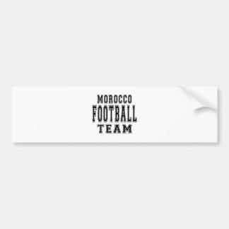Morocco Football Team Bumper Sticker