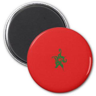 Morocco Gnarly Flag Refrigerator Magnet