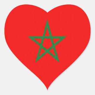 Morocco Heart Sticker