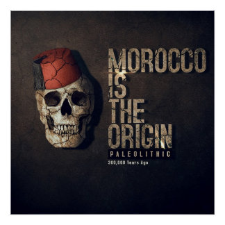 MOROCCO IS THE ORIGIN 300.000 Yers ago (PALEOLITHI Poster