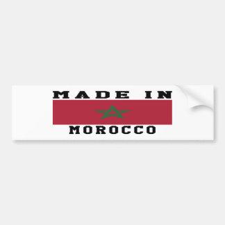Morocco Made In Designs Bumper Sticker