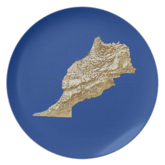 Morocco Map Plate