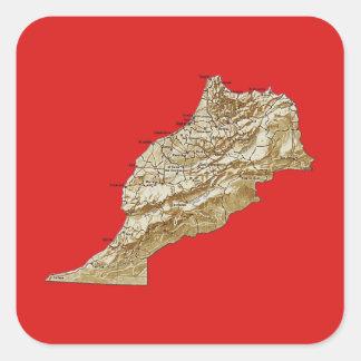 Morocco Map Sticker