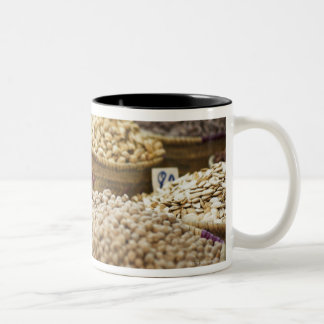 Morocco,Marrakesh,The Medina,Local produce on a Two-Tone Coffee Mug