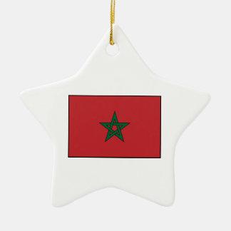 Morocco – Moroccan Flag Christmas Tree Ornaments