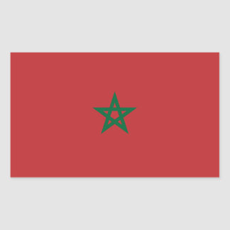 Morocco/Moroccan Flag Rectangular Sticker