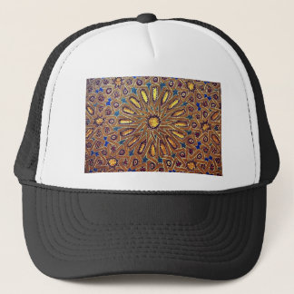 morocco mosaic islam decoration geometry arab trucker hat