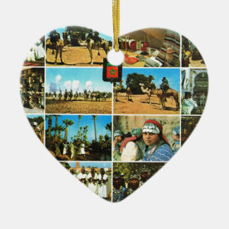 Morocco, North AFrica, Marrakesh multiview Ceramic Heart Decoration