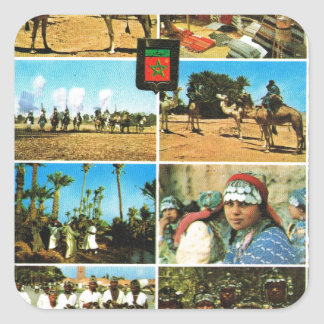 Morocco, North AFrica, Marrakesh multiview Square Sticker