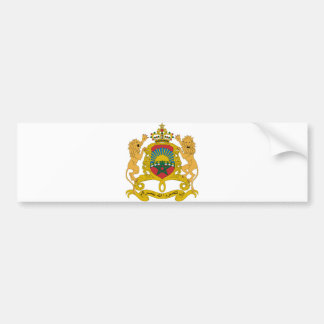 Morocco Official Coat Of Arms Heraldry Symbol Bumper Sticker