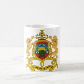 Morocco Official Coat Of Arms Heraldry Symbol Basic White Mug