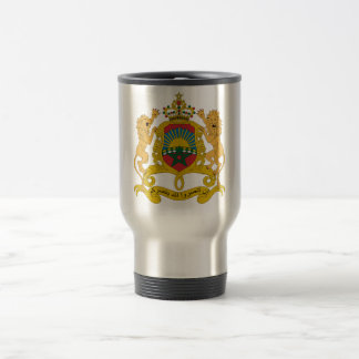 Morocco Official Coat Of Arms Heraldry Symbol Stainless Steel Travel Mug