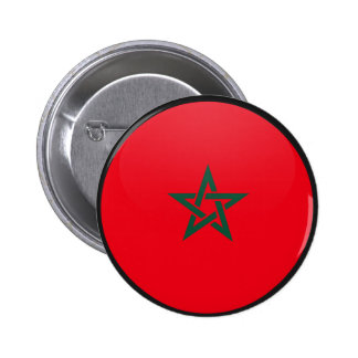 Morocco quality Flag Circle 6 Cm Round Badge