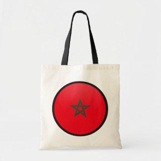 Morocco quality Flag Circle Budget Tote Bag