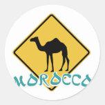 Morocco Round Sticker