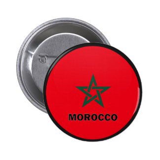 Morocco Roundel quality Flag 6 Cm Round Badge