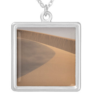 Morocco, Sand Dunes, Draa Valley Silver Plated Necklace