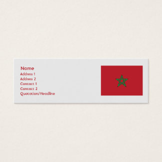 Morocco - Skinny Mini Business Card