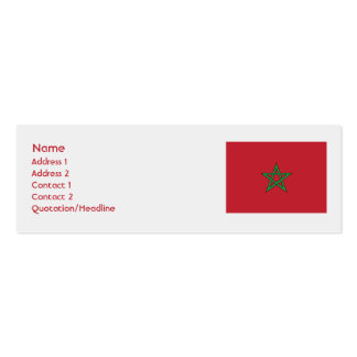 Morocco - Skinny Pack Of Skinny Business Cards