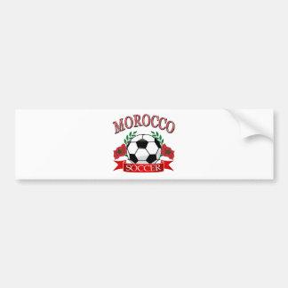 Morocco soccer designs car bumper sticker