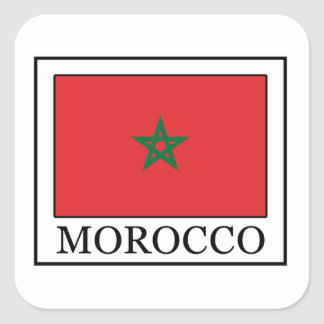 Morocco Square Sticker