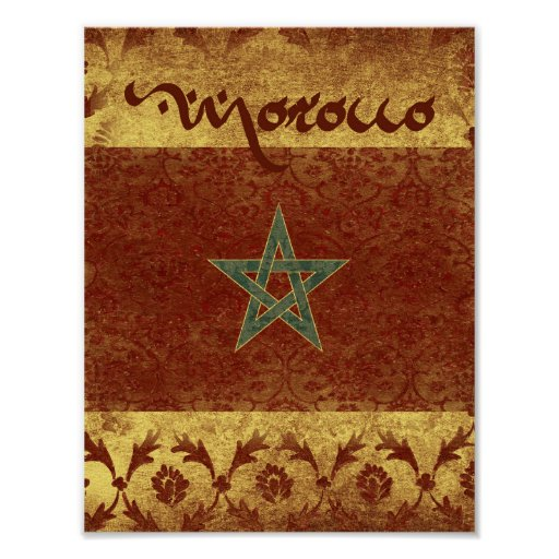 Morocco Table Number Poster
