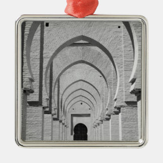 MOROCCO, Tizi, N, Test Pass Road, TIN MAL: Silver-Colored Square Decoration