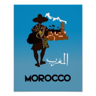Morocco travel poster. poster