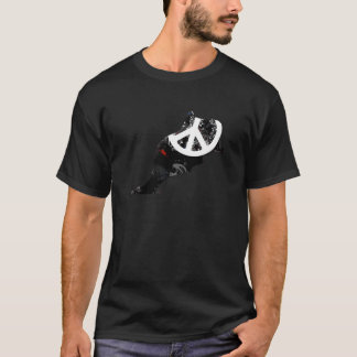 Morocco Trendy Peace Sign with Moroccan map T-Shirt