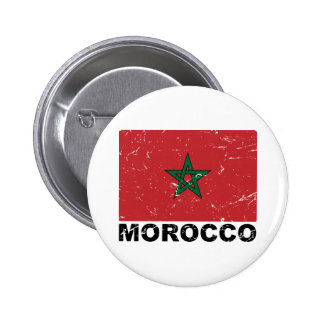 Morocco Vintage Flag 6 Cm Round Badge