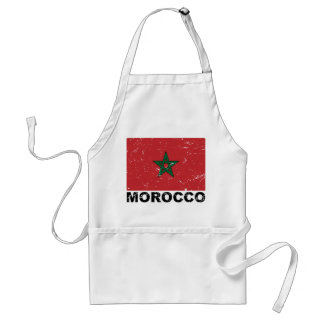 Morocco Vintage Flag Adult Apron