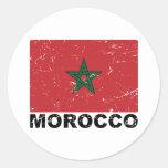 Morocco Vintage Flag Sticker